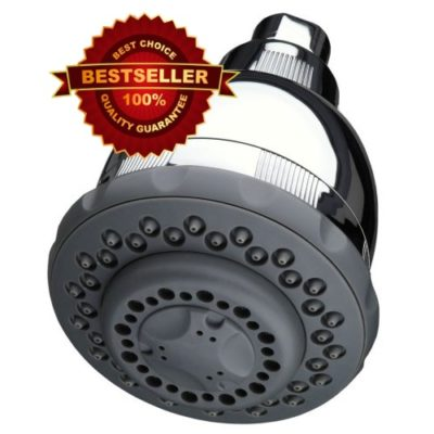 Culligan WSH-C125 Wall-Mount 10,000 Gallon Capacity Filtered Showerhead, Chrome Finish