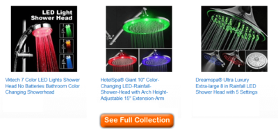 best color changing shower heads