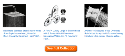 best waterfall shower heads