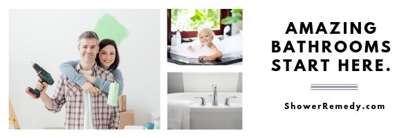 about shower remedy - collage of bathroom renovation images